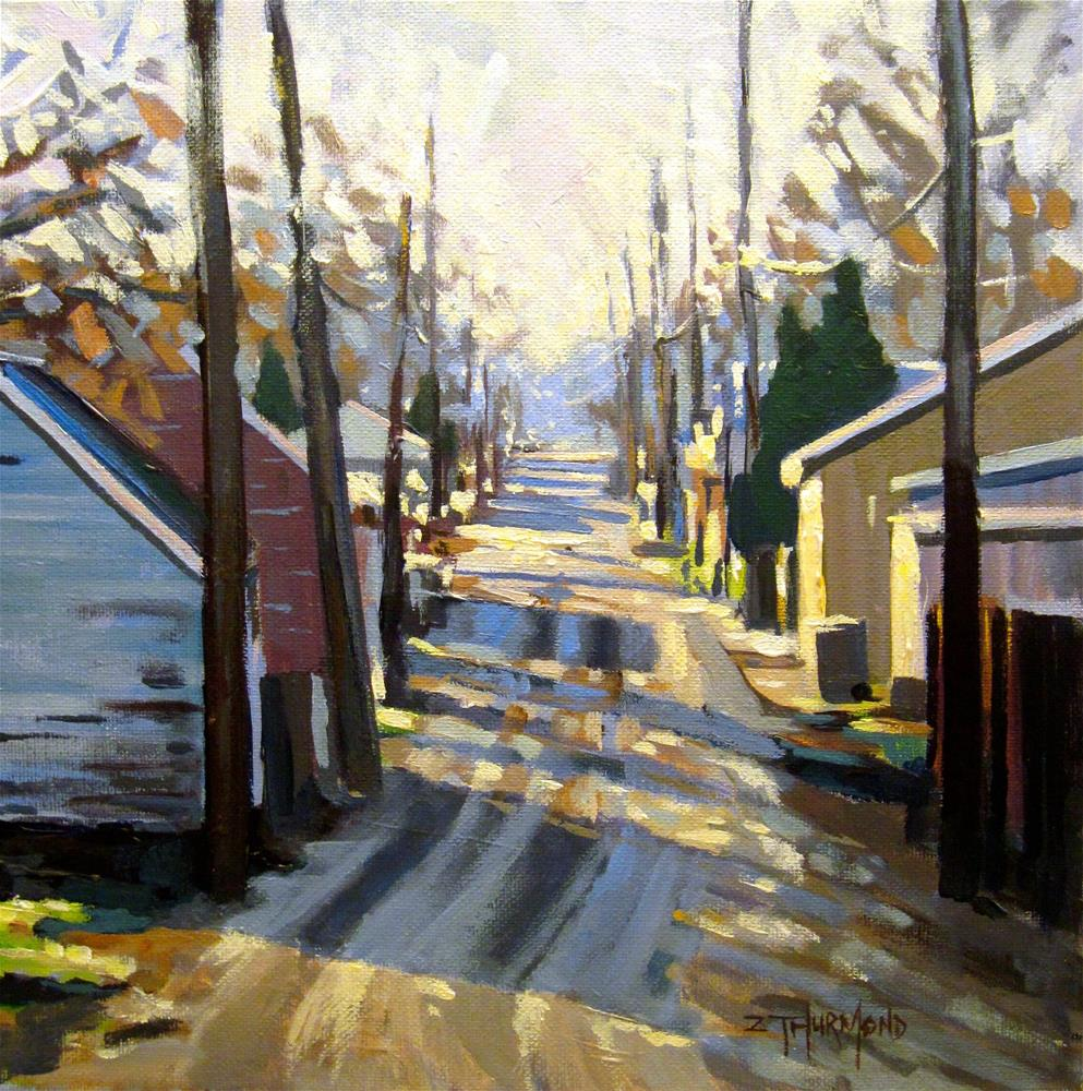 """Unpaved Alley"" original fine art by Zack Thurmond"