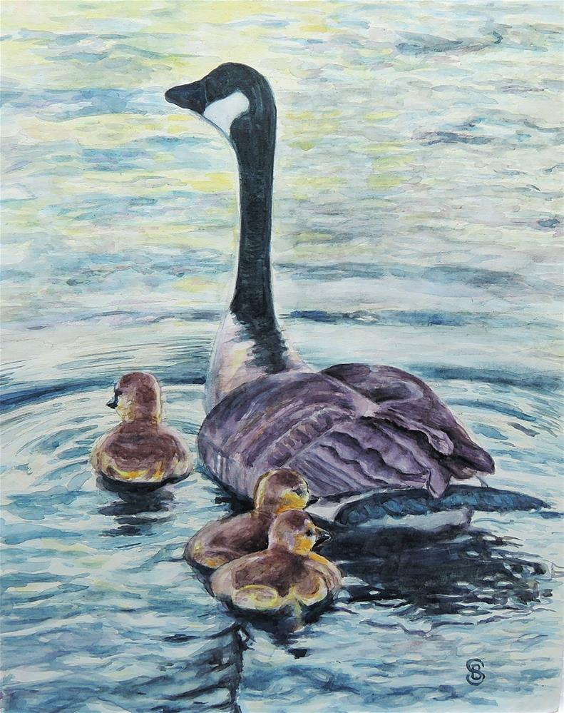 """Heading Out On Their Own"" original fine art by Belinda Scheber"