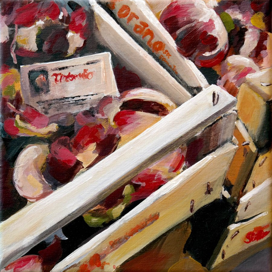 """1387 Decorative Veggie Trash"" original fine art by Dietmar Stiller"