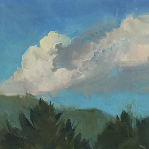 """The Bouffant Clouds at Bob Creek"" original fine art by Patti McNutt"