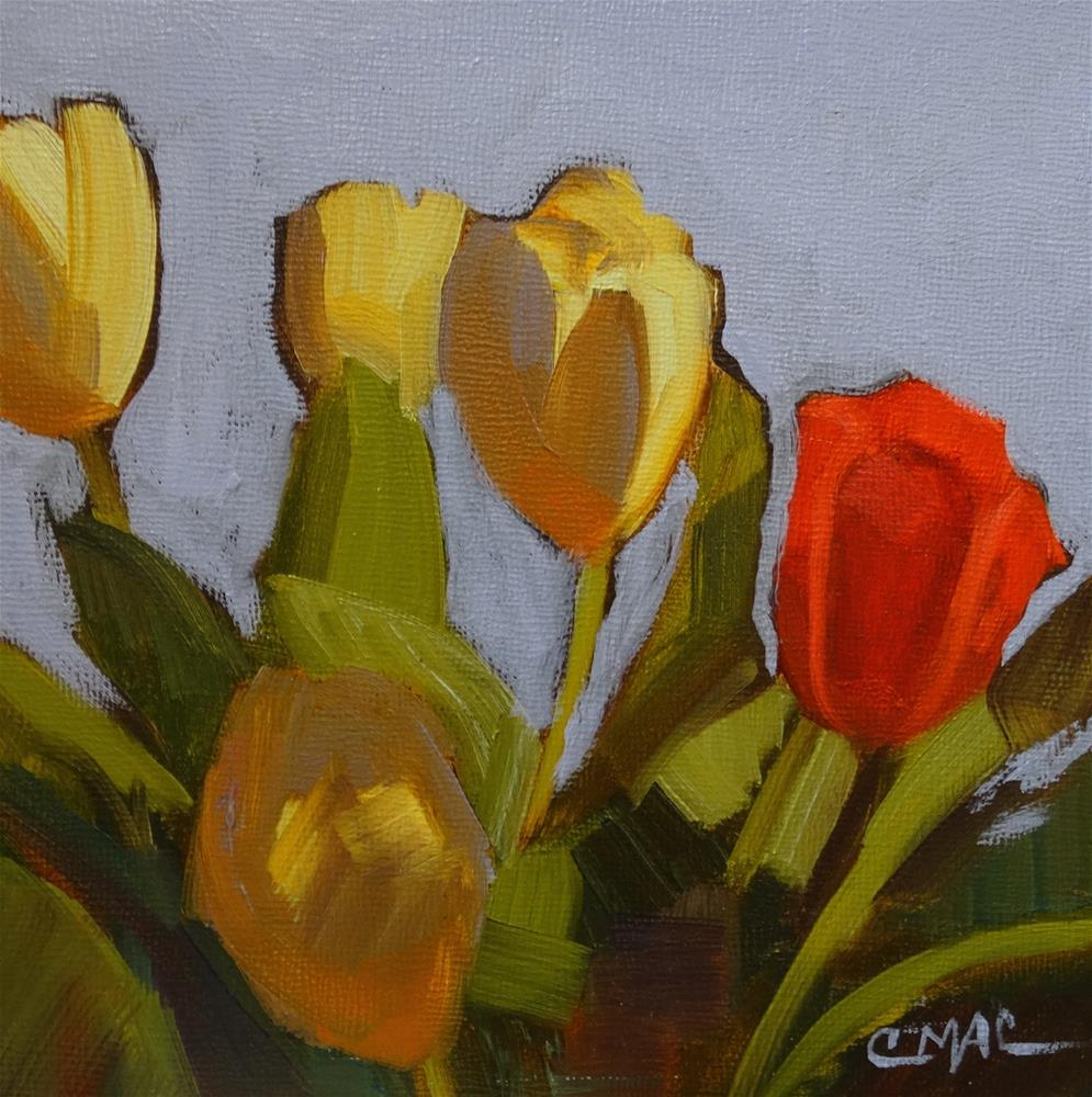 """Tulip Mania"" original fine art by Carolyn McDonald"