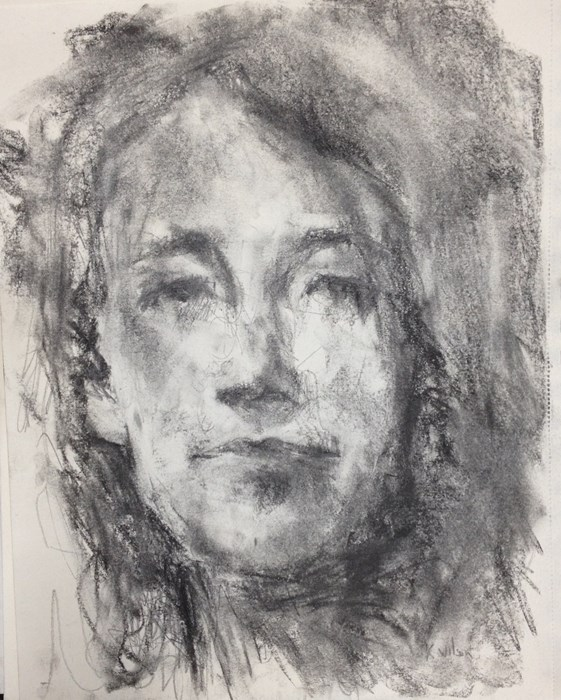 """Head Drawing 12-28"" original fine art by Katie Wilson"