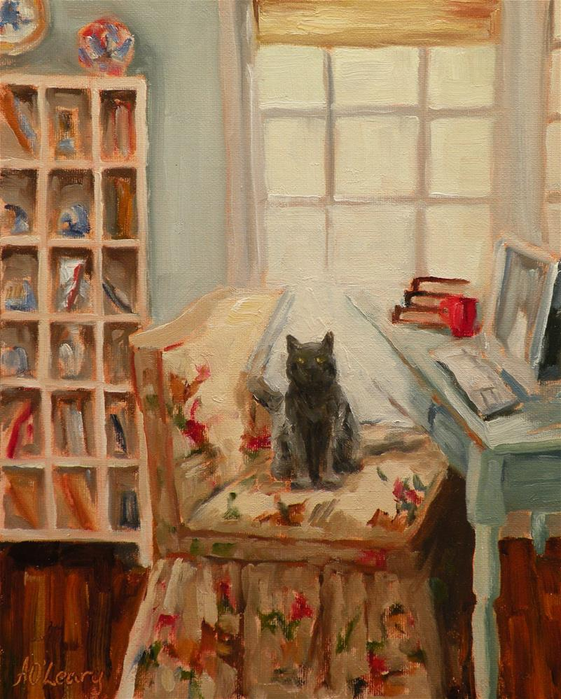 """Sitting Pretty"" original fine art by Alice O'Leary"