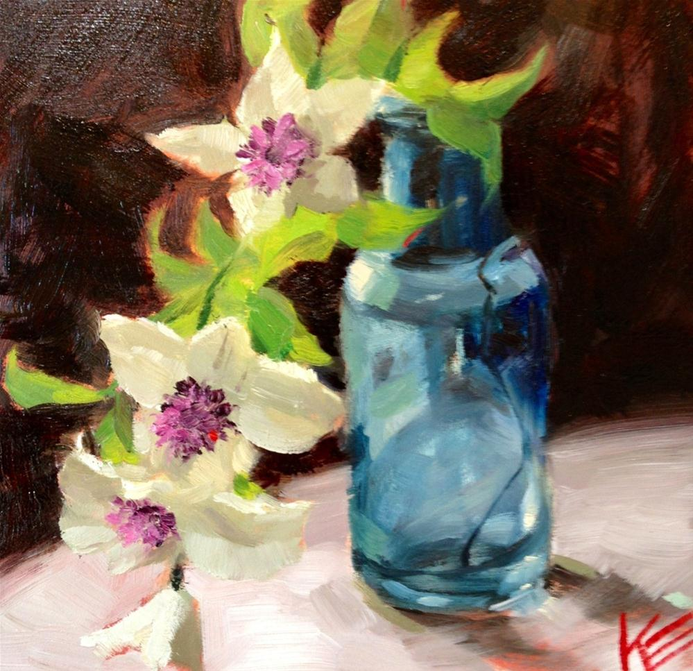 """Clementis"" original fine art by Krista Eaton"