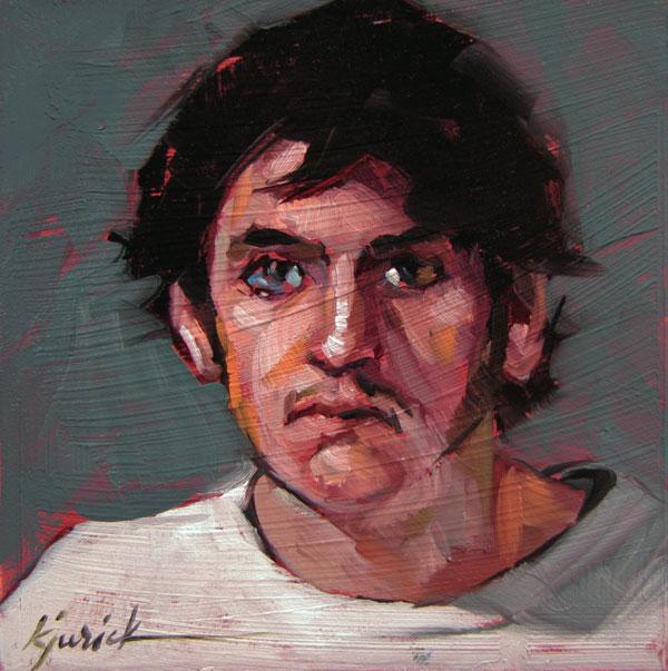 """100 Faces, No. 49"" original fine art by Karin Jurick"