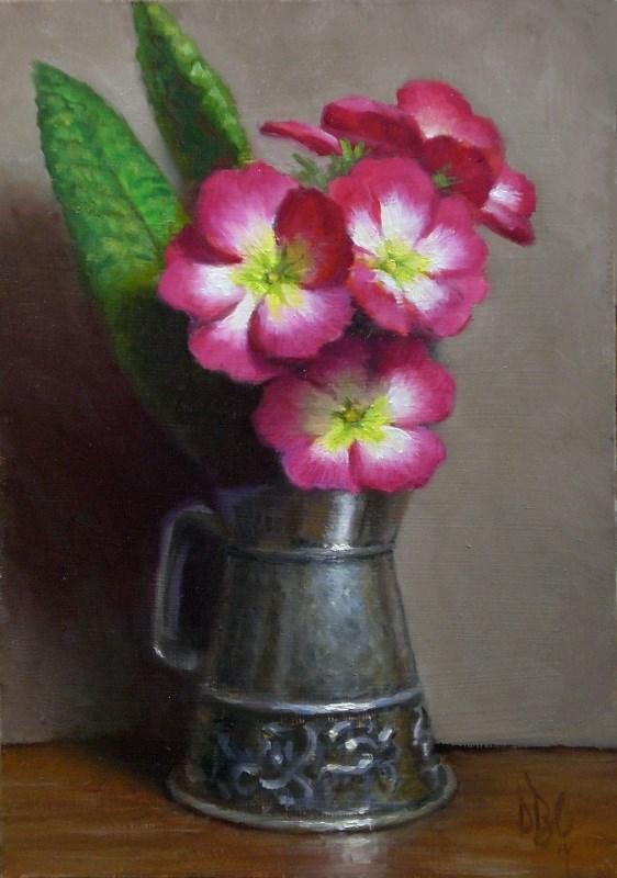 """Spring Primrose"" original fine art by Debra Becks Cooper"