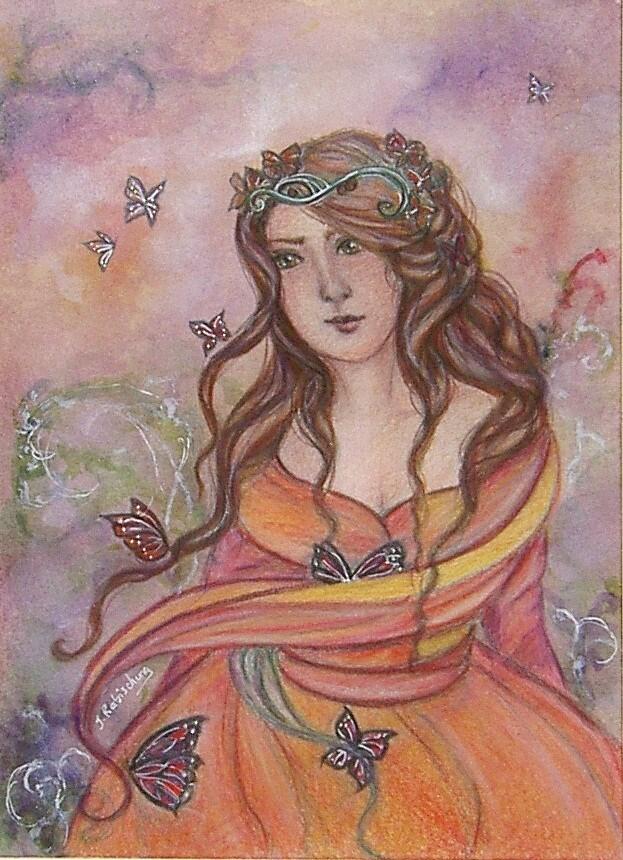 """Queen of the butterflies"" original fine art by Julie Rabischung"