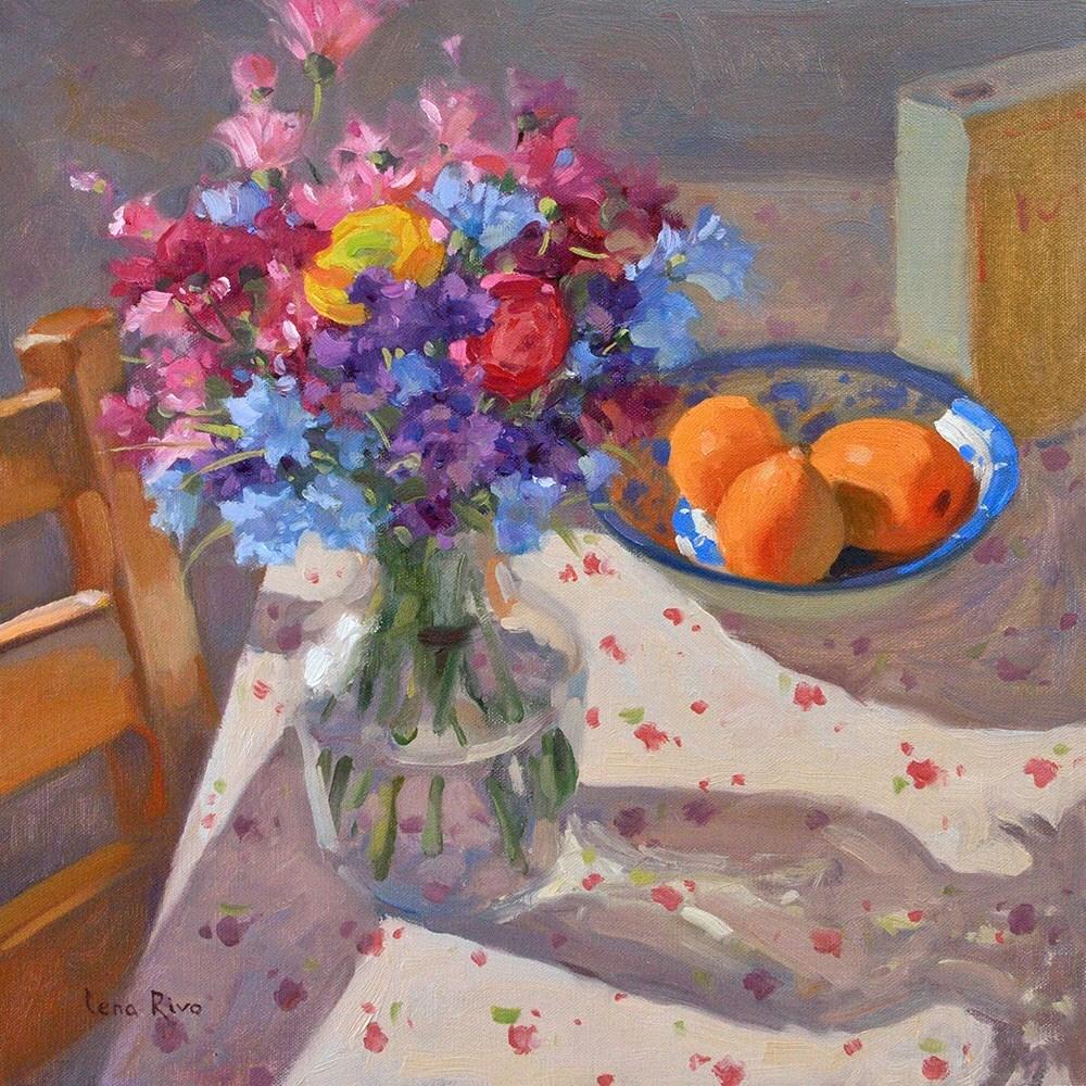 """""""Summer Morning"""" original fine art by Lena  Rivo"""