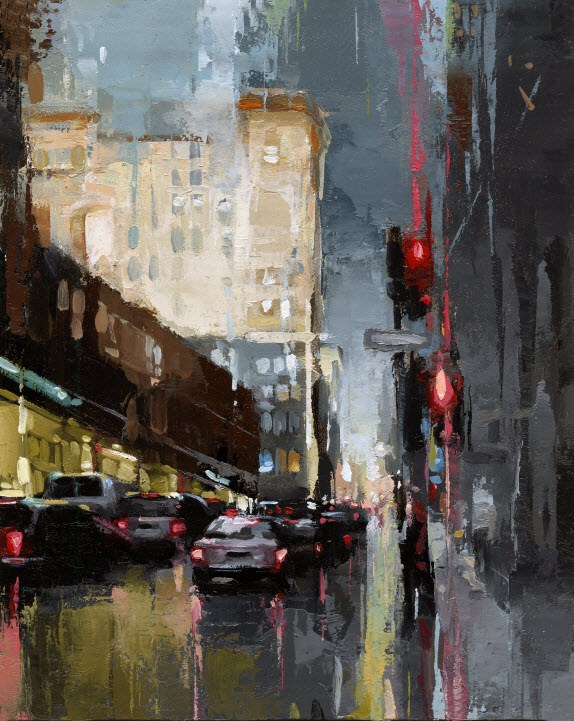 """SOHO - Mercer St. "" original fine art by Victor Bauer"