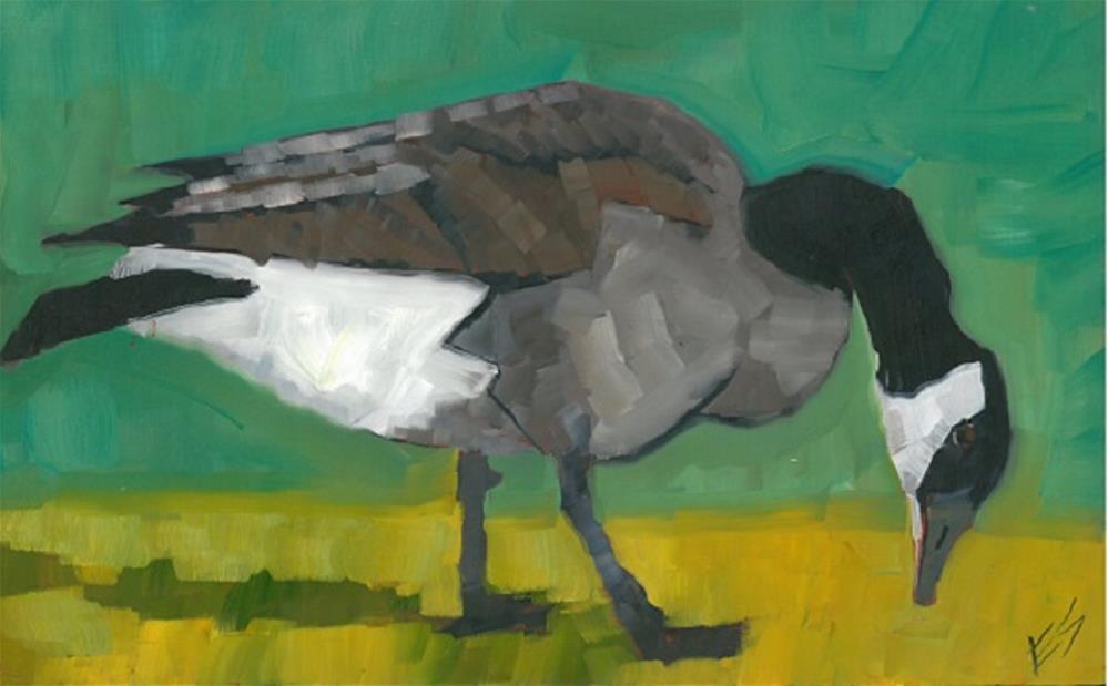 """Canadian Goose"" original fine art by Elizabeth See"