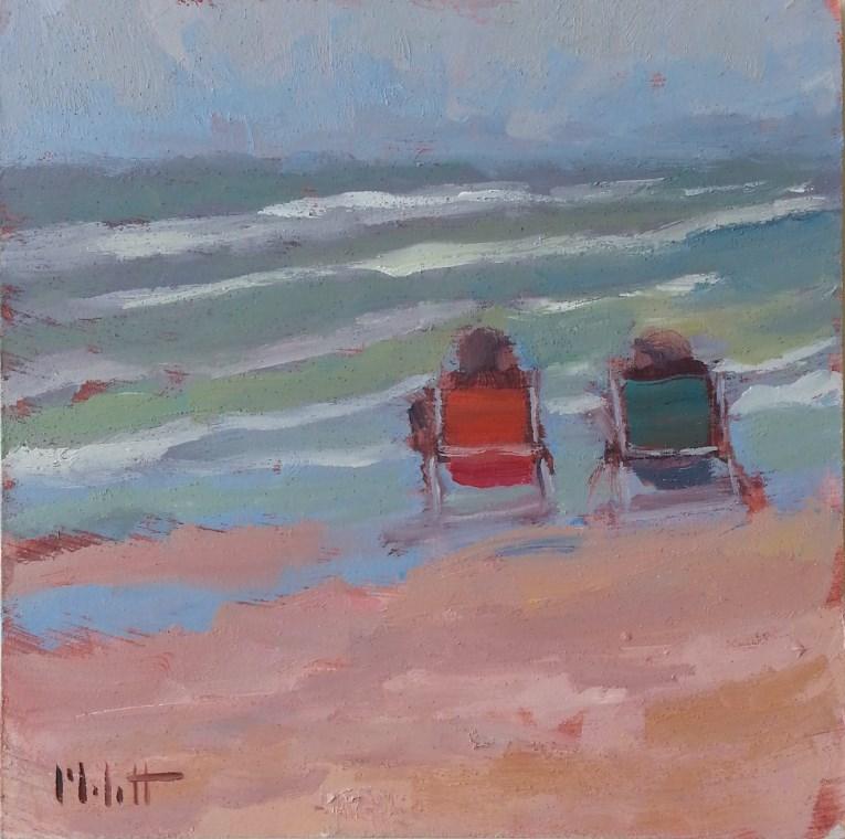 """Beach Life Original Daily Oil Painting Heidi Malott"" original fine art by Heidi Malott"