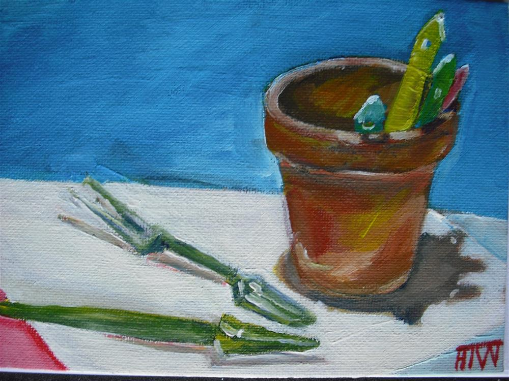 """Getting Ready To Garden"" original fine art by Heather Whiting"