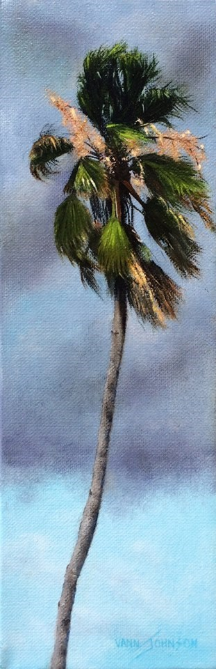 """Stormy Palm 3"" original fine art by Wendi Vann Johnson"