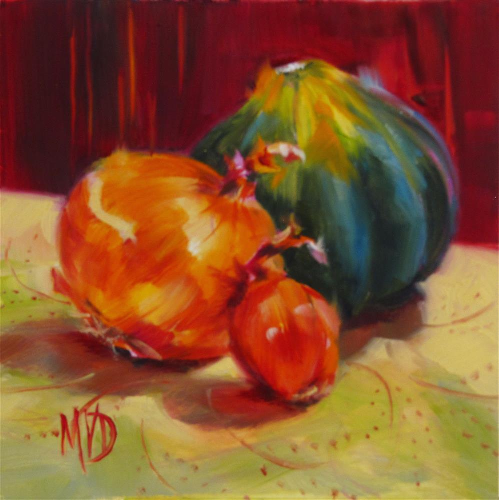 """Acorns & Onions"" original fine art by Mary Van Deman"