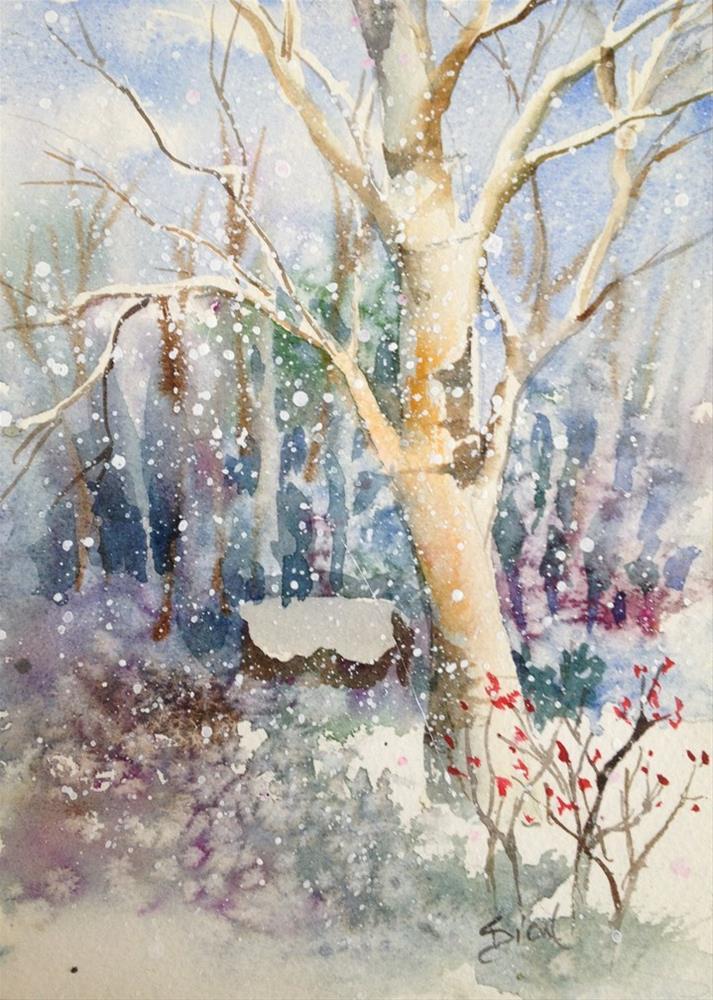 """The Homestead"" original fine art by Sue Dion"