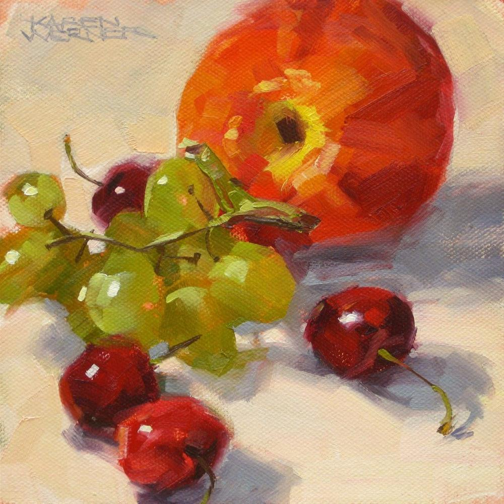 """Summer Fruit"" original fine art by Karen Werner"