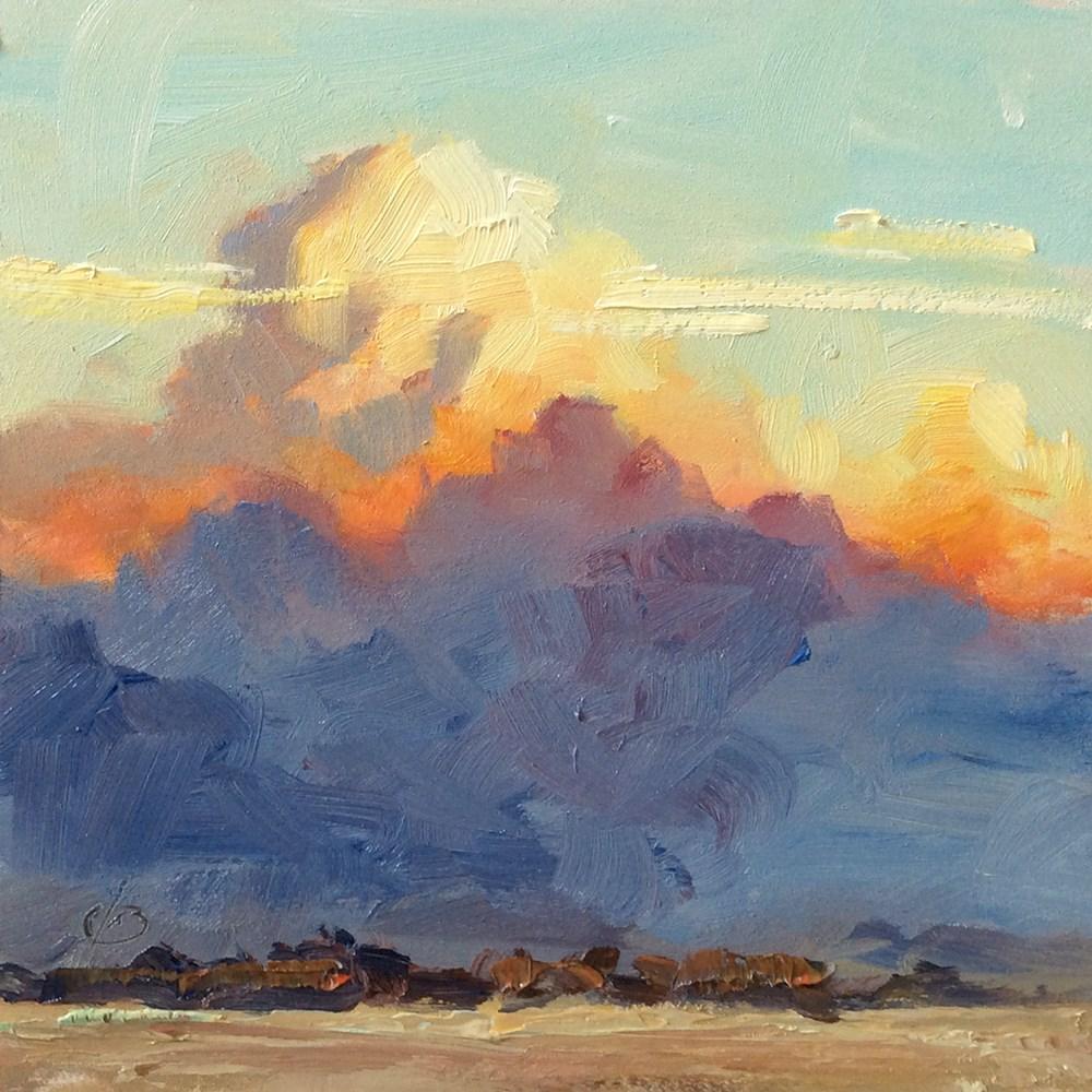 """I'VE SEEN FIRE IN THE SKY"" original fine art by Tom Brown"