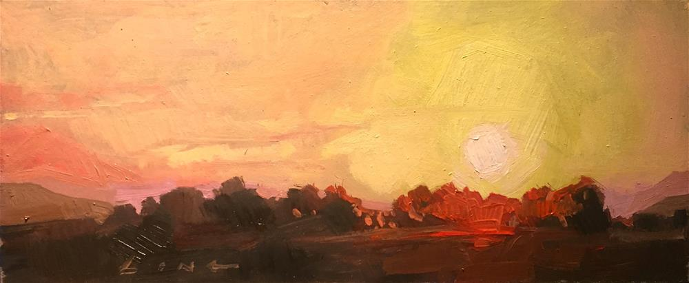 """Sunrise"" original fine art by Chris Long"