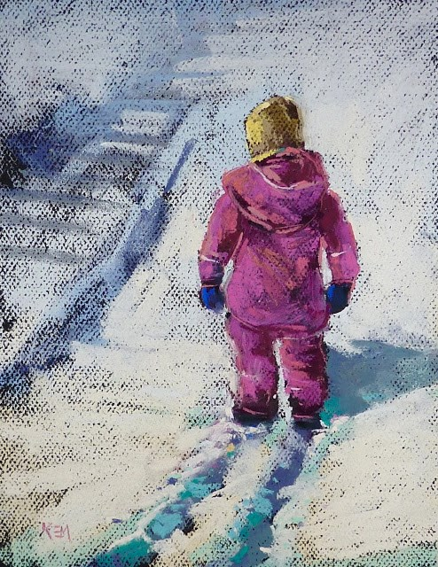 """Is the Right Side Wrong? Exploring Pastel Paper"" original fine art by Karen Margulis"