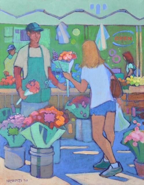 """Fresh Flowers"" original fine art by Nancy Roberts"