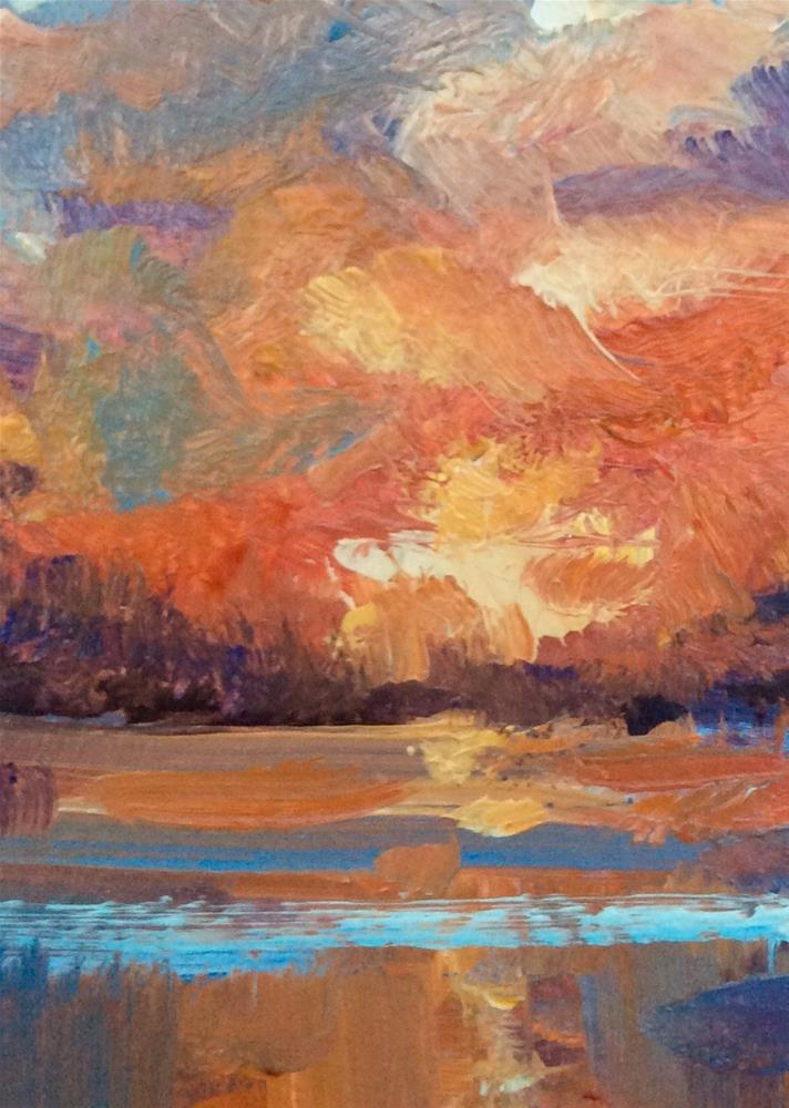 """Sundown"" original fine art by Anne Wood"