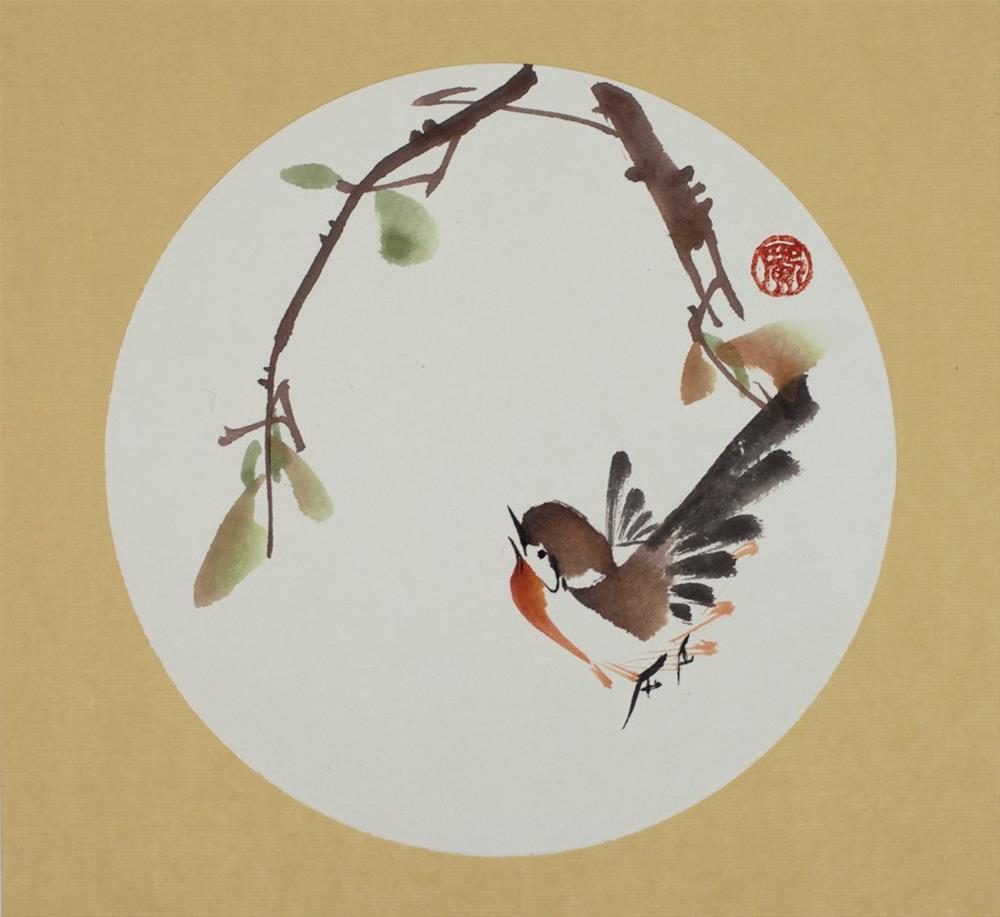"""Early Bird"" original fine art by R kwong"