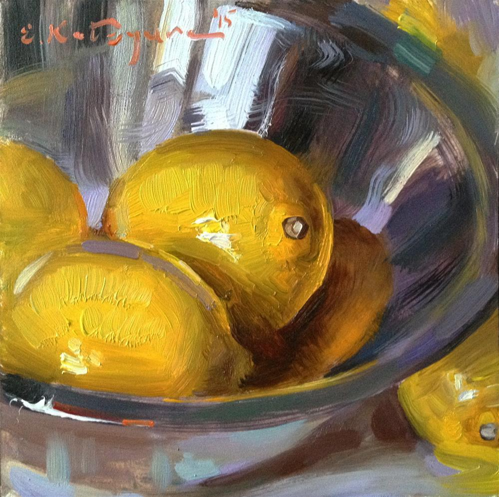 """Friendly Lemons"" original fine art by Elena Katsyura"