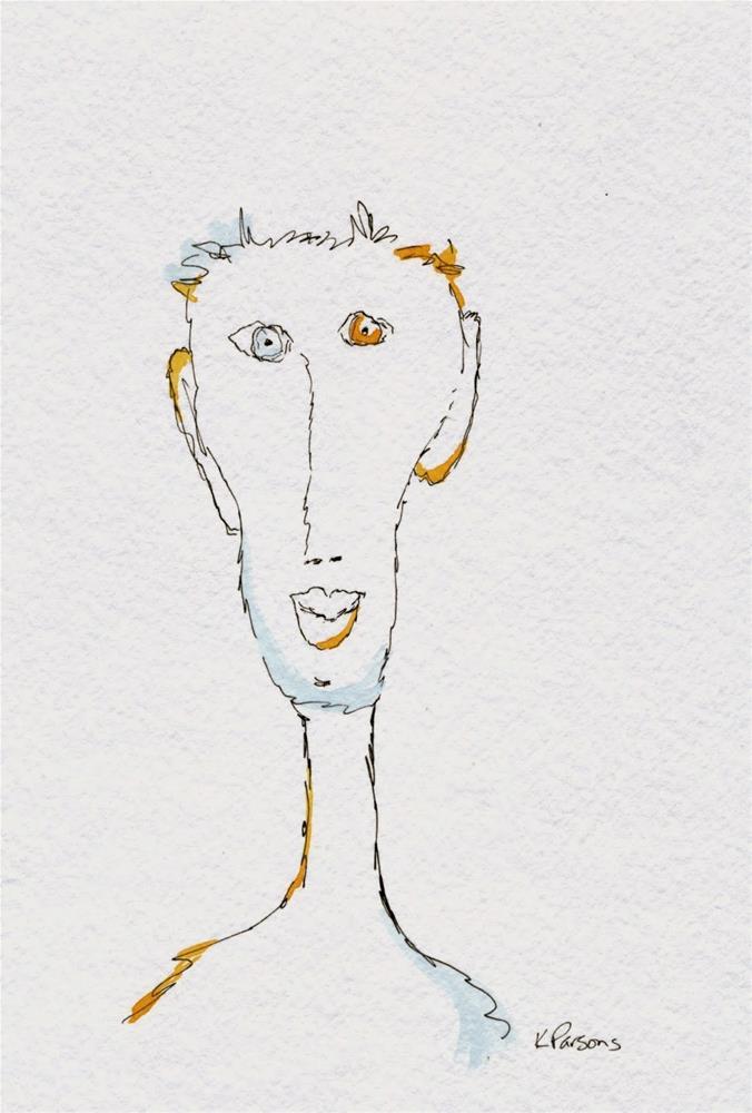 """""""Me...Happy!"""" original fine art by Kali Parsons"""