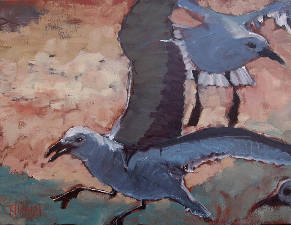 """Gulls"" original fine art by Rick Nilson"