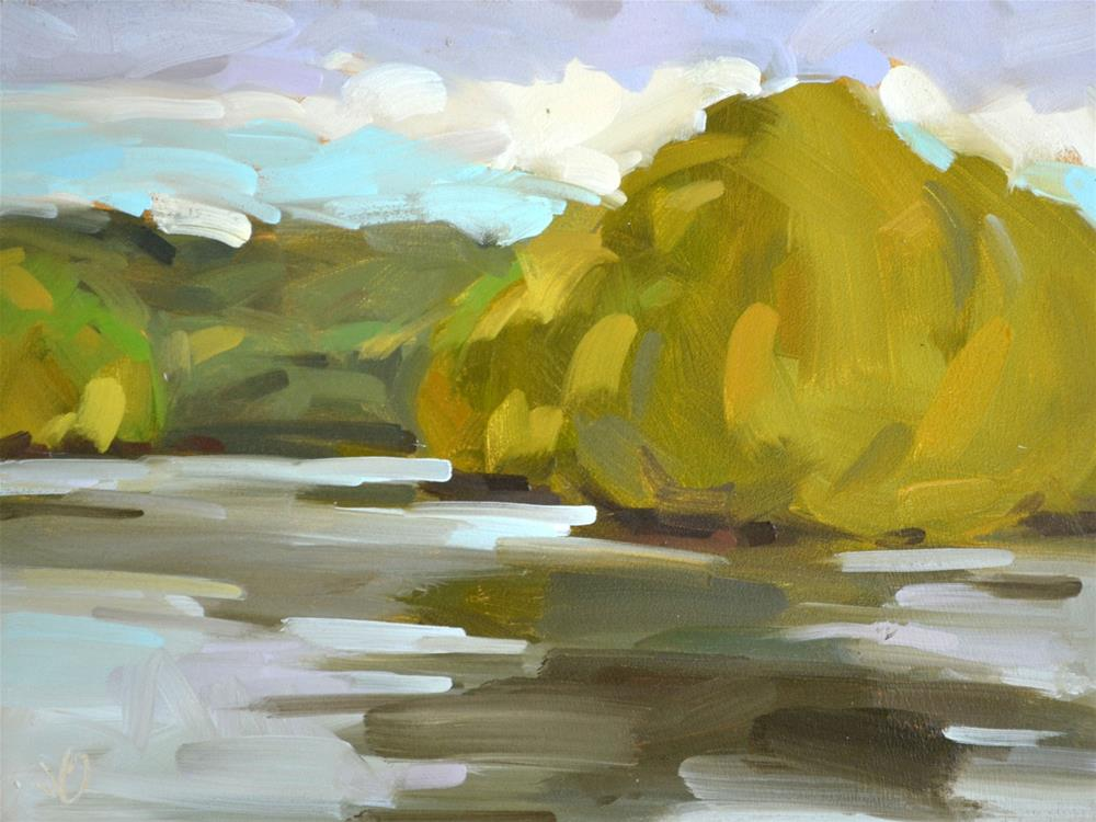 """Peaceful River"" original fine art by Jessica Green"