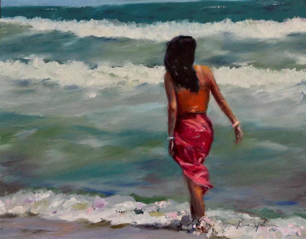 """From Distant Shores"" original fine art by Karen Weber"