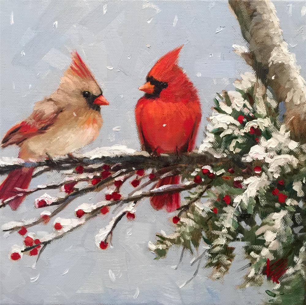 """Baby it's cold outside.."" original fine art by Krista Eaton"