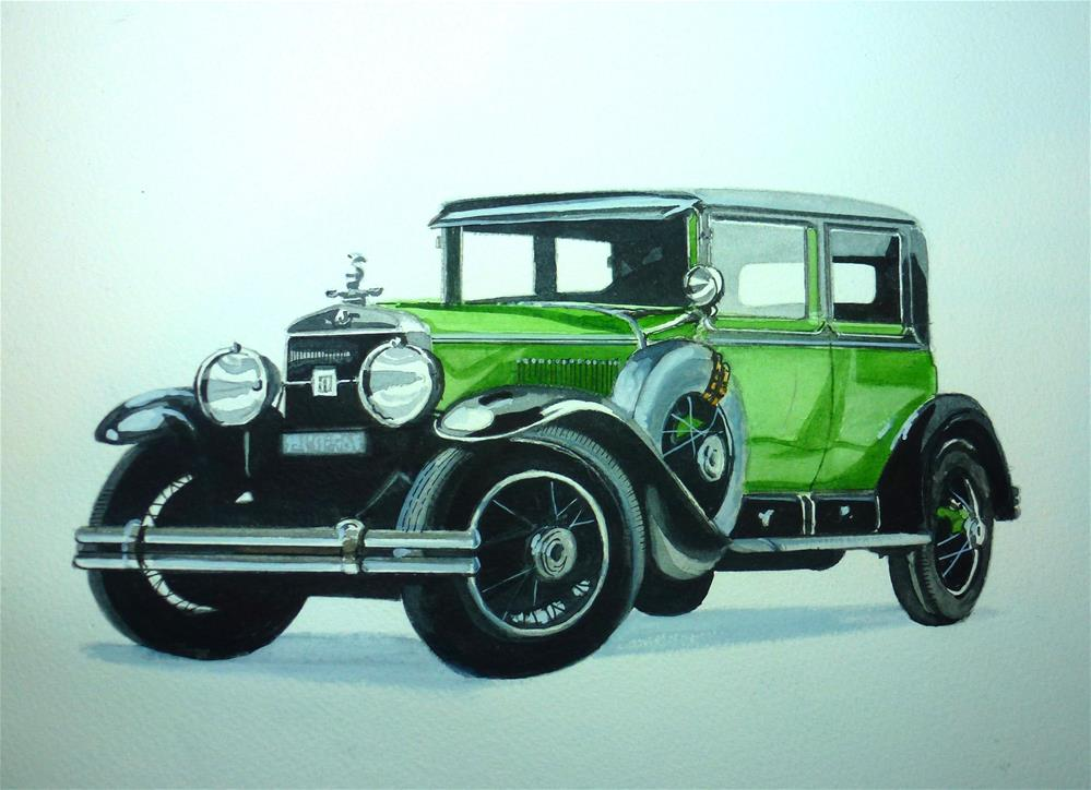 """1928 Cadillac thought to have belonged to Al Capone"" original fine art by John Monney"