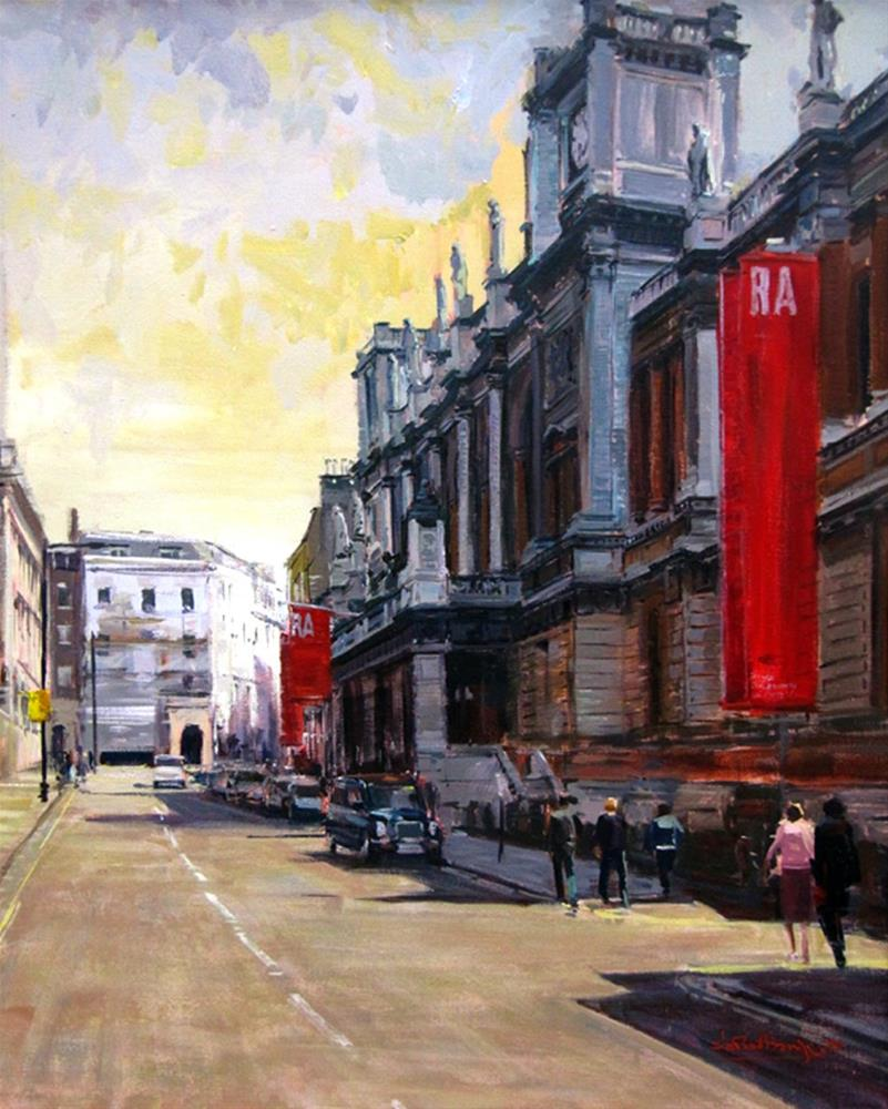 """Summer Light, The Royal Academy"" original fine art by Adebanji Alade"