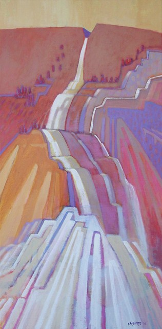 """Falls"" original fine art by Nancy Roberts"