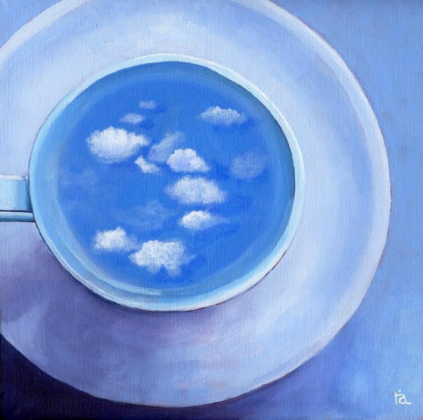 clouds in coffee #4 original fine art by Ria Hills