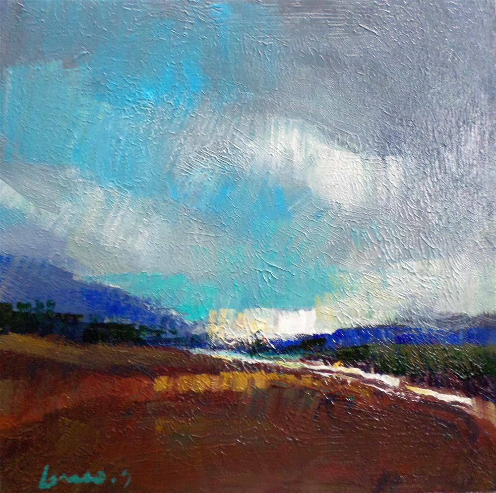"""plowed field"" original fine art by salvatore greco"