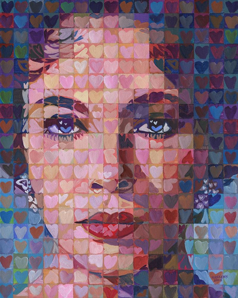 """I ♥ Elizabeth Taylor"" original fine art by Randal Huiskens"