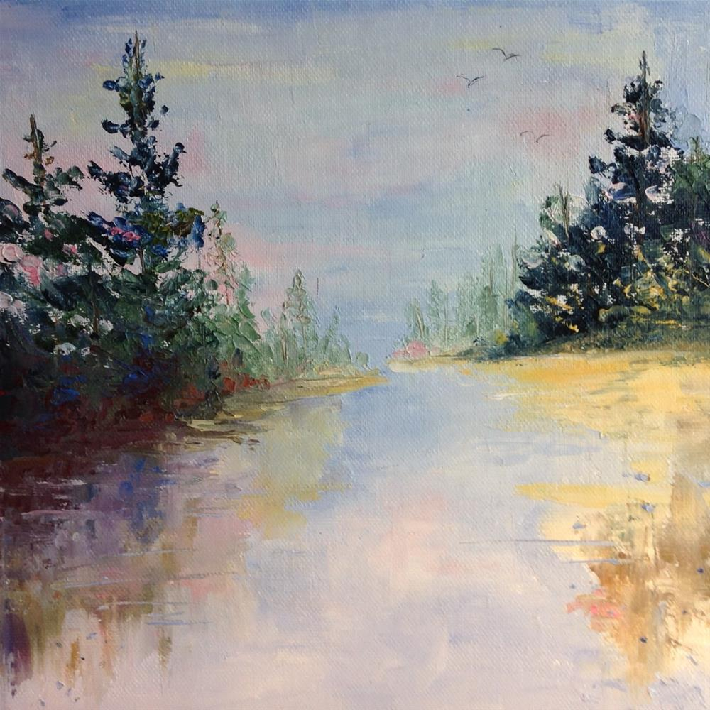 """Serene Lake"" original fine art by Rose Brenner"