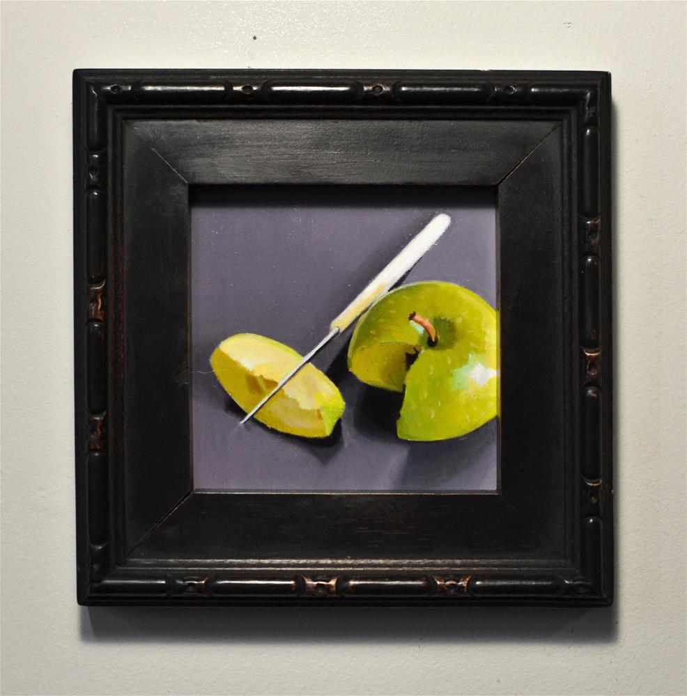"""Granny Smith Slice #1"" original fine art by Brian Burt"
