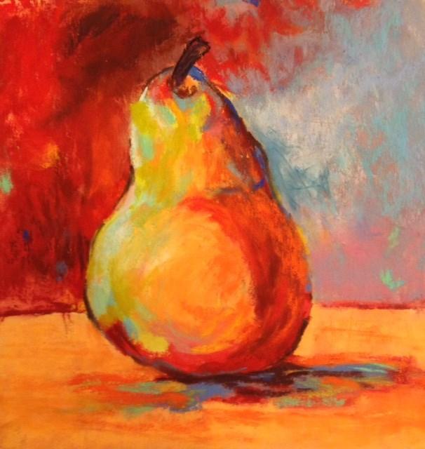 """Pear"" original fine art by Angeli Petrocco Coover"