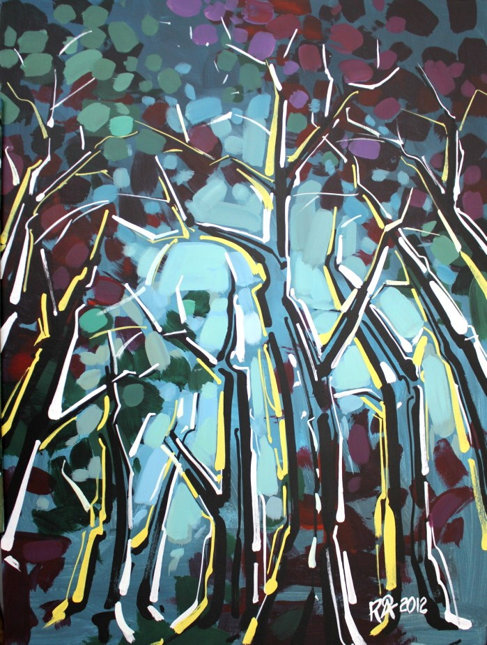 """Tree abstraction 7"" original fine art by Roger Akesson"