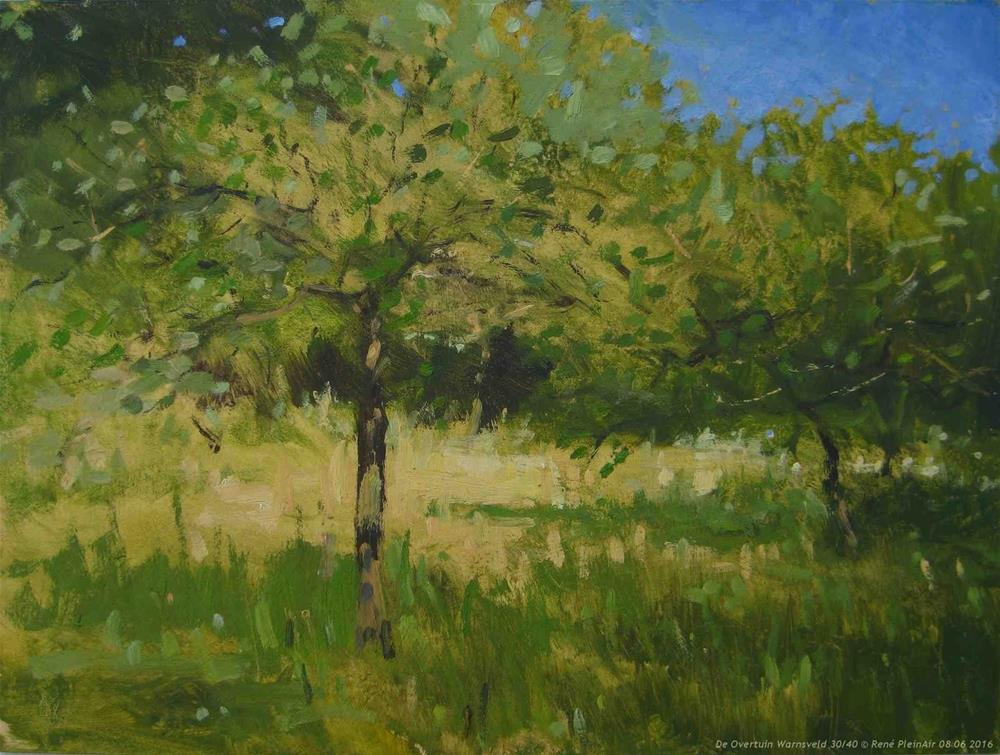 """De Overtuin. Warnsveld, The Netherlands"" original fine art by René PleinAir"