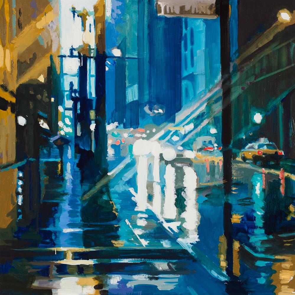 """January Rain"" original fine art by Toby Davis"