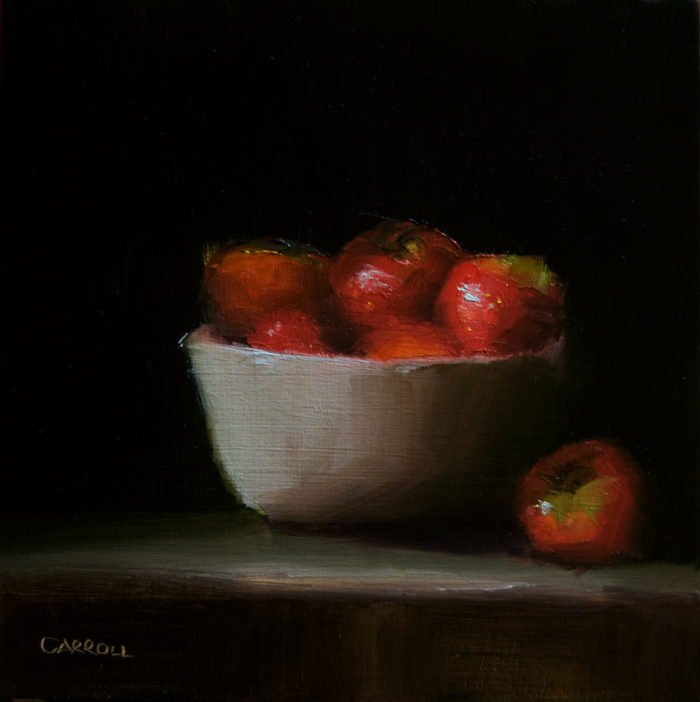 """Bowl of Strawberries"" original fine art by Neil Carroll"