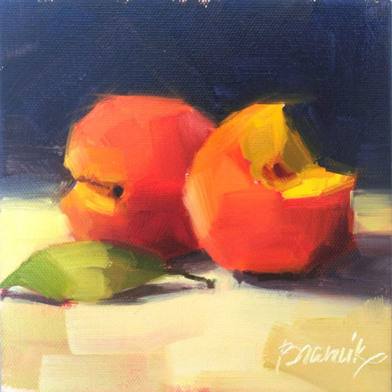 """Peaches"" original fine art by Candace Brancik"