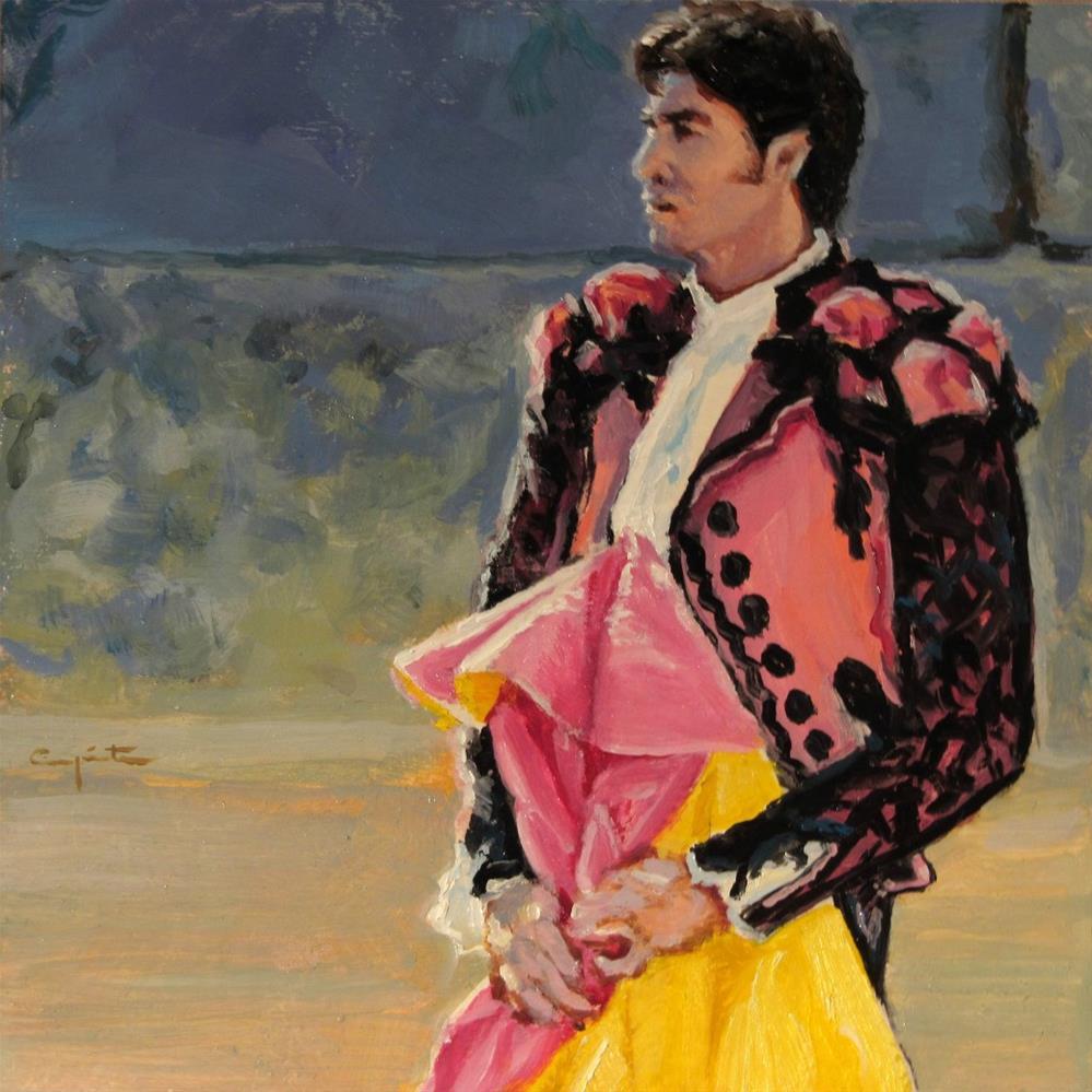 """""""Tradicional corrida de Ronda"""" original fine art by Eduardo Carpintero"""