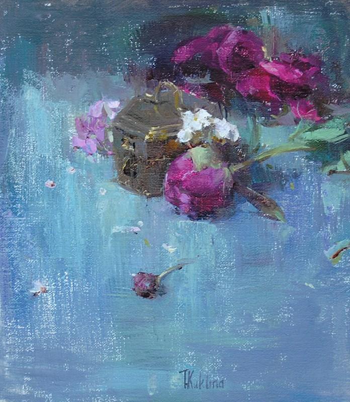 """""""Peony"""" original fine art by Taisia Kuklina"""