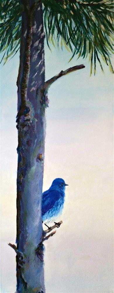 """Good-Morning Bluebird"" original fine art by Dana C"