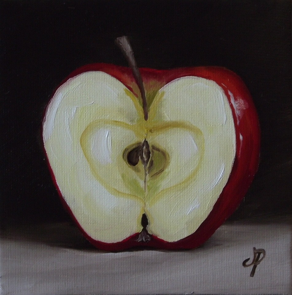 """Little Apple Half"" original fine art by Jane Palmer"